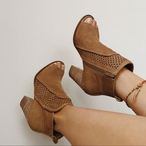 Lucky Brand Ankle Peep Toe Boots